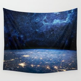Earth and Galaxy Wall Tapestry