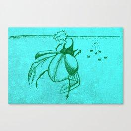 Beetles Are Jerks Canvas Print