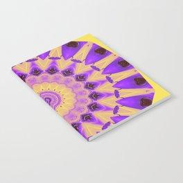 Bold Purple and Yellow Mandala Notebook