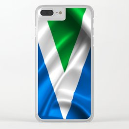 Vegan Flag on soft and shiny clothing Clear iPhone Case