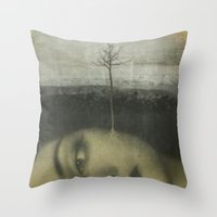 lolita Throw Pillows featuring Lolita by Nikoletta Bati