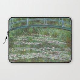 Claude Monet The Japanese Footbridge 1899 Painting Laptop Sleeve