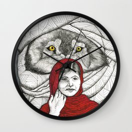 What Big Eyes You Have Wall Clock