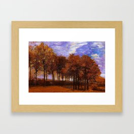 Autumn Landscape by Vincent van Gogh Framed Art Print