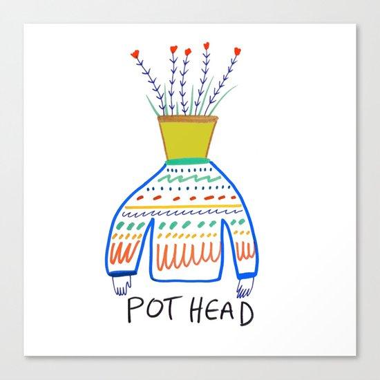 Pot head. Canvas Print