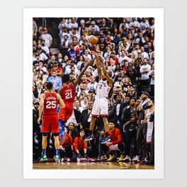 Kawhi Leonard Jump Shot Art Print