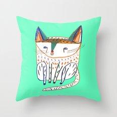 cat illustration, cats art, cat decor Throw Pillow