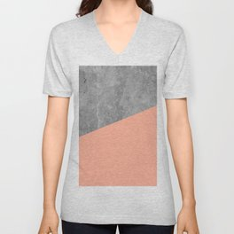 Geometry 101 Sweet Peach Pink Unisex V-Neck