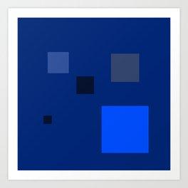 blu tings Art Print