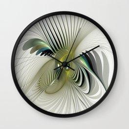 Fractal Have A Look, Modern Abstract Fantasy Wall Clock