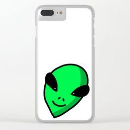 Alien Face | Veronica Nagorny Clear iPhone Case