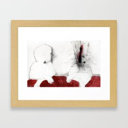 When the things I didn't say exploded my head Framed Art Print