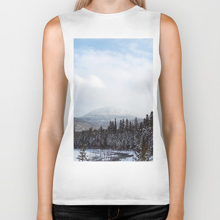Winter in the Mountains Biker Tank