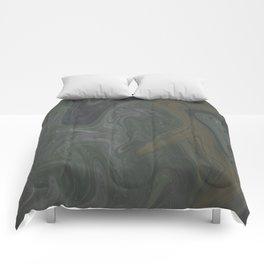 Winter Green Vortex Comforters