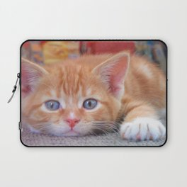 Cleo the Christmas Cat Laptop Sleeve