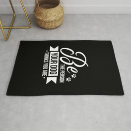 Funny Dog Saying Design, Great Gift For Dog Lovers print Rug