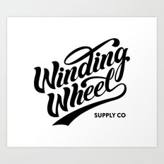 Winding Wheel Art Print