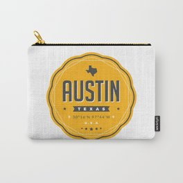 Austin Texas City Badge Carry-All Pouch