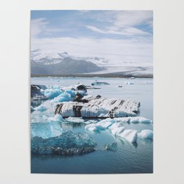 Icelandic glacier Poster