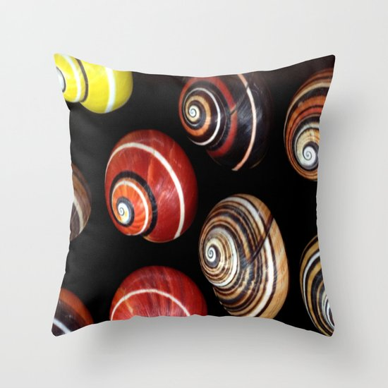 Polymita Cuban Snail Throw Pillow