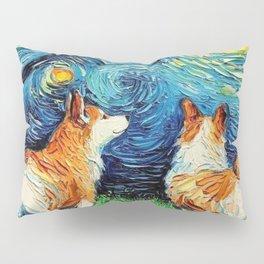 Corgi in Starry Night Pillow Sham