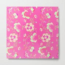 adrienne bengal pink Metal Print