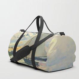 Sailboat Le-Petit-Gennevilliers Claude Monet Fine Art Duffle Bag