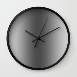 Gray to Black Vertical Bilinear Gradient Wall Clock
