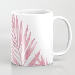 Palm Leaves Pink Coffee Mug