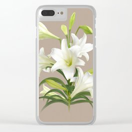 Easter Lily Clear iPhone Case