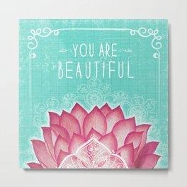 Pink Lotus Metal Print