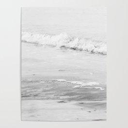 Monochrome Beach Poster