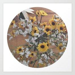 Flowers (yellow/white)  Art Print