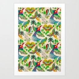 Paradis Antique Art Print
