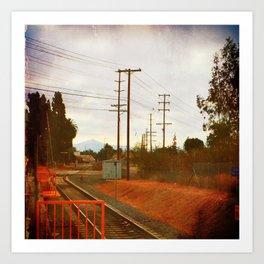 Waitin' for the train Art Print