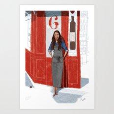 Les Parisiens - Solenne le Sommelier Art Print