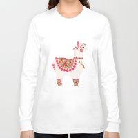 alpaca Long Sleeve T-shirts featuring The Alpaca by haidishabrina