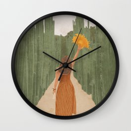 A Way Through the Cactus Field Wall Clock