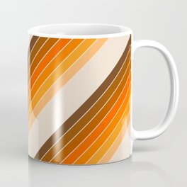 Tan Candy Stripe Coffee Mug
