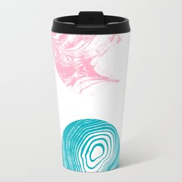 Yuuta - spille dink abstract painting watercolor painting marble marbling pattern Travel Mug