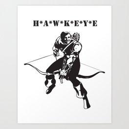 Bow and Arrow Mash Up Art Print