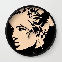 Edie Sedgwick, Factory Girl (Black Only) Wall Clock