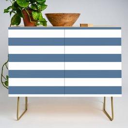 Blue and White Stripes Credenza