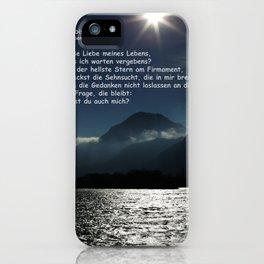 Wo bist du? iPhone Case