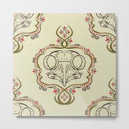 Boreal Owl Skull ~ Light Metal Print