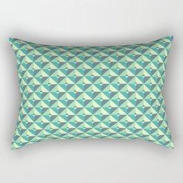 Green Triangles Pattern Rectangular Pillow