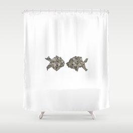 kissing fish Shower Curtain