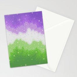 Genderqueer Pride Galaxy Stationery Cards