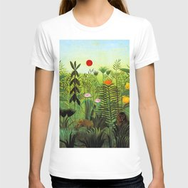 "Henri Rousseau ""Exotic Landscape with Lion and Lioness in Africa"", 1903-1910 T-shirt"