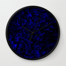 coming together darkly. blue Wall Clock